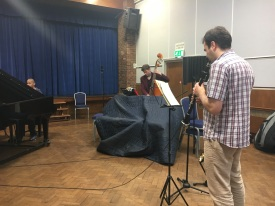 Recording with Terence Collie and Nick Lenner-Webster for 'Trio' - photo by Janet McCunn
