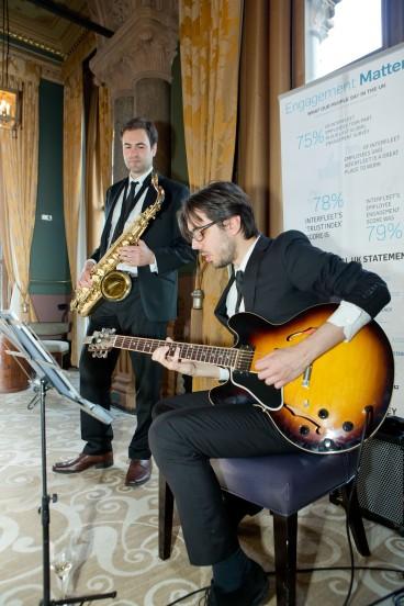 With guitarist Nelson Pari